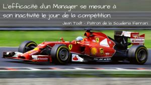 L'efficacité d'un Manager se mesure à son inactivité le jour de la compétition